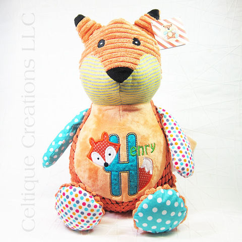 Personalized,Patchwork,Fox,Cubbies,Stuffed,Animal,Patchwork Fox Stuffed Animal, Personalized Fox Stuffed Animal, Harlequin Fox Stuffed Animal, Personalized Fox Gift, Cubbies Fox, Patchwork Cubbies Fox, Fox Stuffed Animal, Celtique Creations