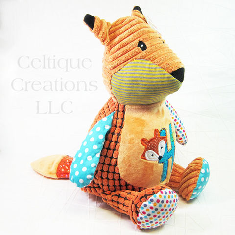 Personalized Patchwork Fox Cubbies Stuffed Animal - product images  of