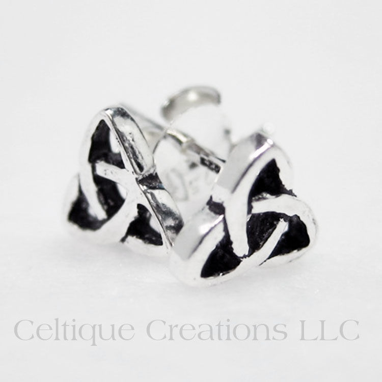 Petite Trinity Knot Stud Earrings Sterling Silver - product images  of