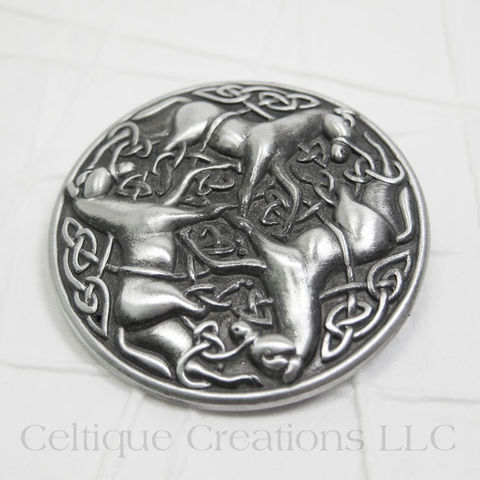 Celtic Knot Horse Brooch Pin - product images  of