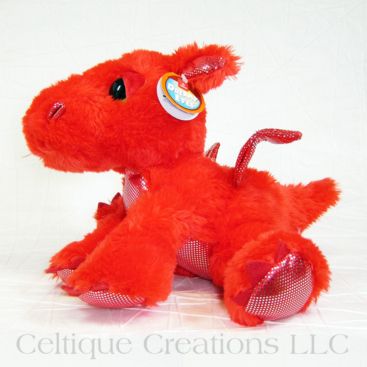 Flame the Red Dragon Dreamy Eyes Stuffed Animal - product images  of