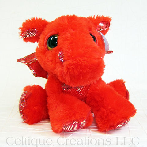 Flame,the,Red,Dragon,Dreamy,Eyes,Stuffed,Animal,Flame Dragon, Dragon Stuffed Animal, Dragon Stuffie, Dragon Soft Toy, Cute Dragon, Sweet Dragon, Adorable Dragon, Dreamy Eyes, Aurora Stuffed Animal, Celtique Creations