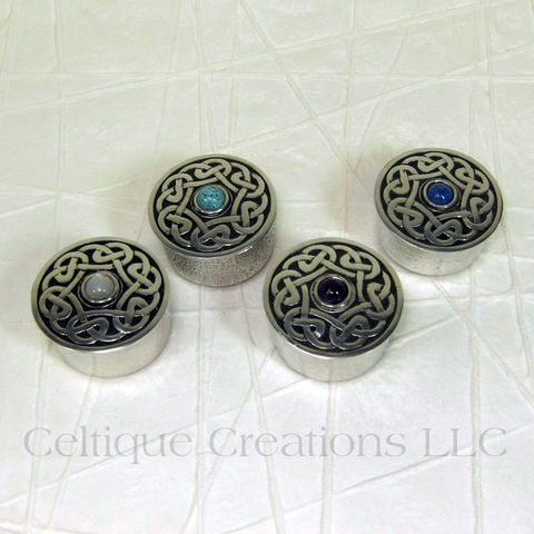 St.,Justin,Pewter,Celtic,Pill,Trinket,Box,with,Stone,St. Justin Pewter Pill Box, St. Justin Pewter Trinket Box, Celtic Trinket Box, Celtic Pewter Trinket Box, Celtic Trinket Box with Stone, Celtic Pill Box, Celtique Creations