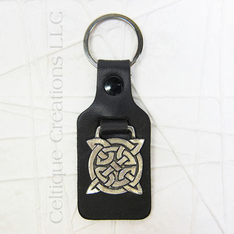 Square,Celtic,Knot,St.,Justin,Pewter,Key,Ring,Celtic Knot Key Ring, Celtic Knot Key Fob, Celtic Knot Key Chian, St. Justin Pewter Key Ring, Celtic Key Ring, Celtic Key Chain, St. Justin Pewter, Celtique Creations