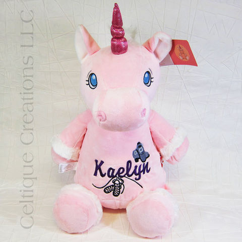 Personalized Pink Unicorn Cubbies Stuffed Animal - product images  of