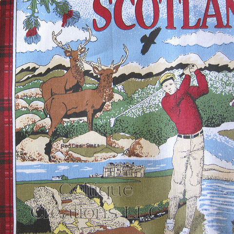 Memories of Scotland Cotton Tea Towel - product images  of