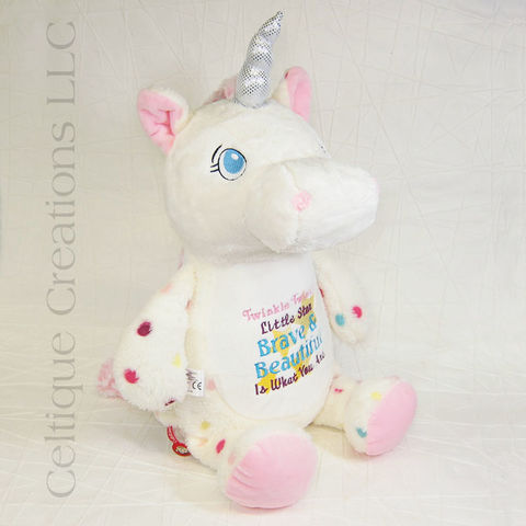 Personalized,Spotted,Unicorn,Cubbies,Signature,Stuffed,Animal, Unicorn Stuffed Animal, Personalized Unicorn, Unicorn Personalized Gift, Polka Dot Unicorn, Spotten Unicorn, Cubbies, Cubbies Unicorn, Cubbies Signature Unicorn, Unicorn Stuffie, Celtique Creations