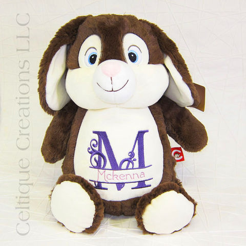 Personalized,Bunny,Stuffed,Animal,Chocolate,Brown,Cubbies, Bunny Stuffed Animal, Rabbit, Rabbit Stuffed Animal, Personalized Bunny, Personalized Easter Present, Chocolate Bunny, Cubbies, Cubby, Celtique Creations