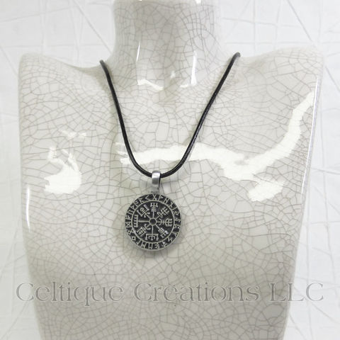 Viking Compass Vegvisir Handmade Necklace - product images  of