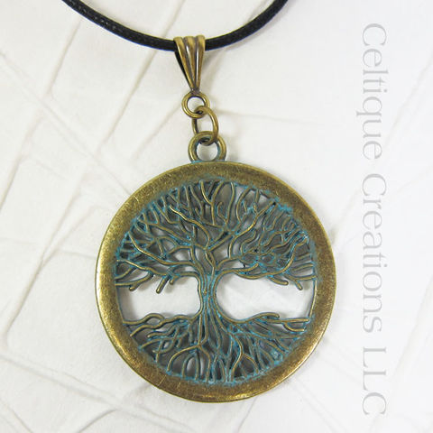 Copper Modern Tree of Life Handmade Necklace - product images  of