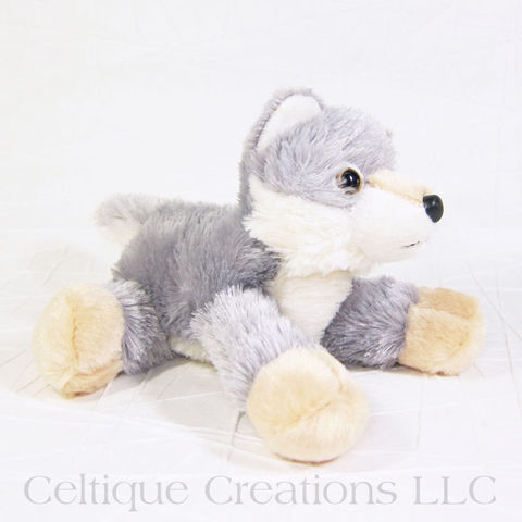 Woolsey Wolf Mini Flopsie Stuffed Animal - product images  of