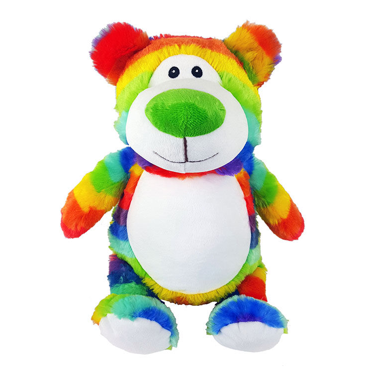 Personalized Rainbow Teddy Bear Cubbies Stuffed Animal - product image