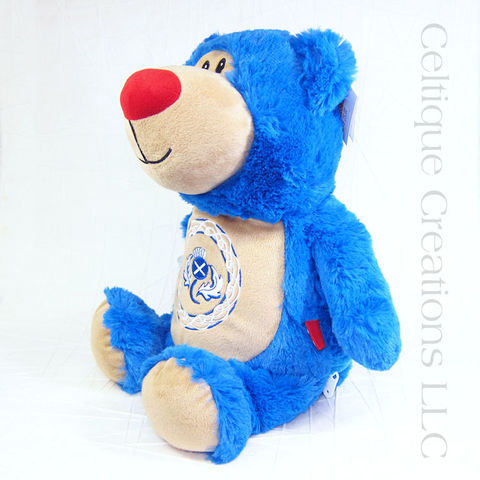 Scottish Blue Teddy Bear with Thistle Cubbies Stuffed Animal - product images  of