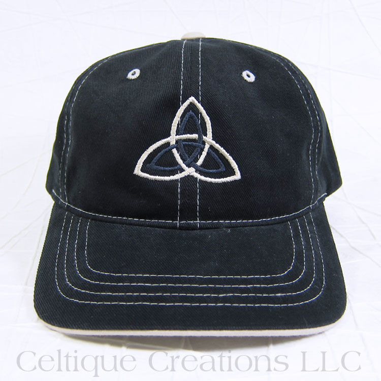 Double Trinity Celtic Knot Baseball Cap Black - product images  of