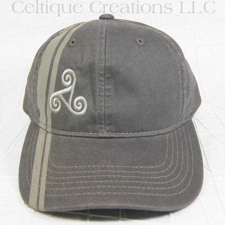 Celtic Triskele Brown Striped Baseball Hat - product images  of