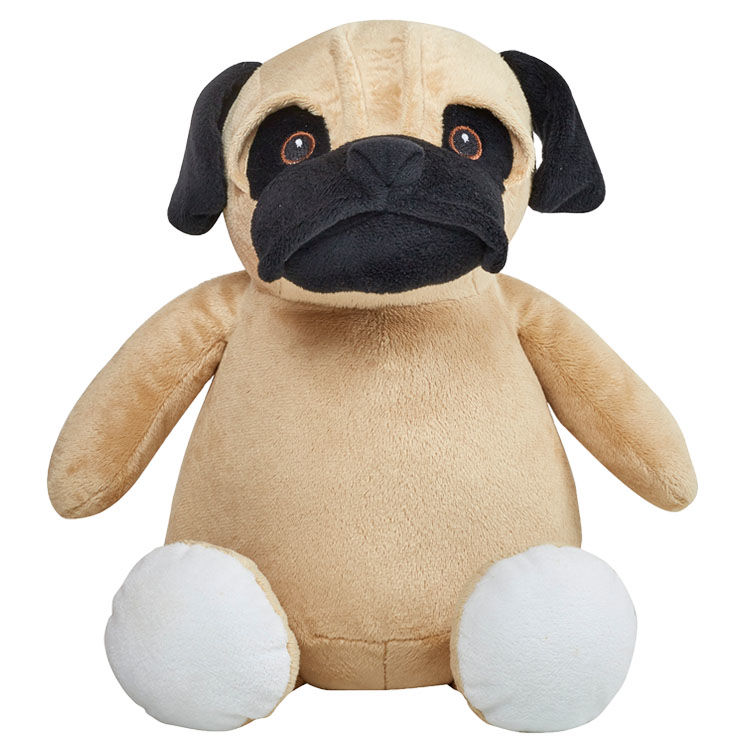 Personalized Pug Puppy Cubbies Stuffed Animal - product image
