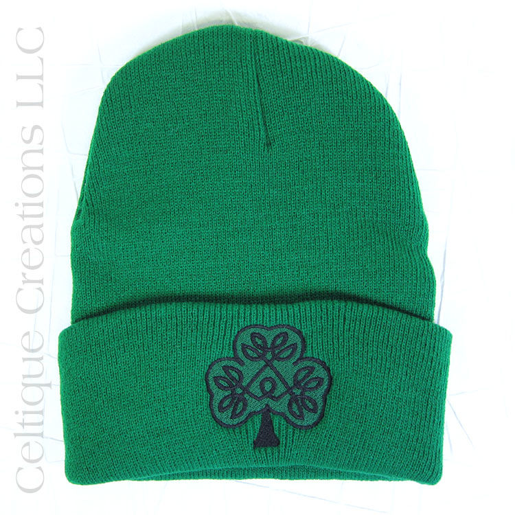 89025a992bc Irish Celtic Shamrock Kelly Green Winter Hat - Celtique Creations