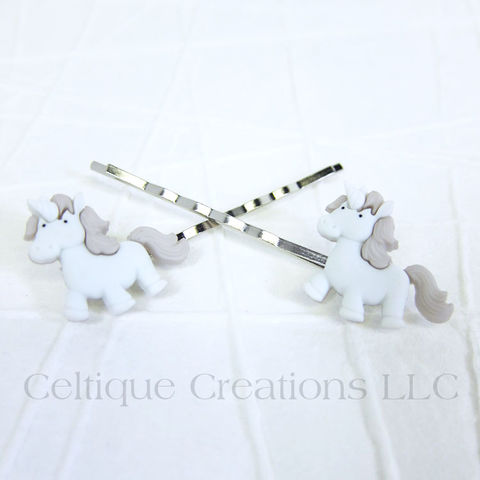 Cute Unicorn Bobby Pins Handmade Hair Accessories - product images  of