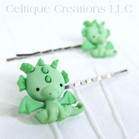 Kawaii,Dragon,Bobby,Pins,Handmade,Hair,Accessories, Bobby Pins, Bobby Pin, Hair Slides, Handmade, Hair Accessories, Kawaii, Celtique Creations