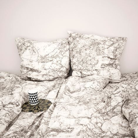 ‹MARBLE,BEDDING›,by,ferm,living,ferm living, marble, marmor, stone, stein, cushions, bedding, kissen, bettbezug, bettüberzug, bettwäsche, bed, linen, sleepingroom, bedclothes