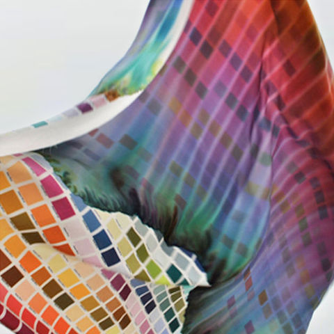 ‹FLUID,COLOURS›,SILK,SCARF,Fluid colors, Rain, pantone, silk, scarf, wrap, shawl, tuch, schal, cape, regenbogen, regen, bunt, colorful, seide, seidenschal