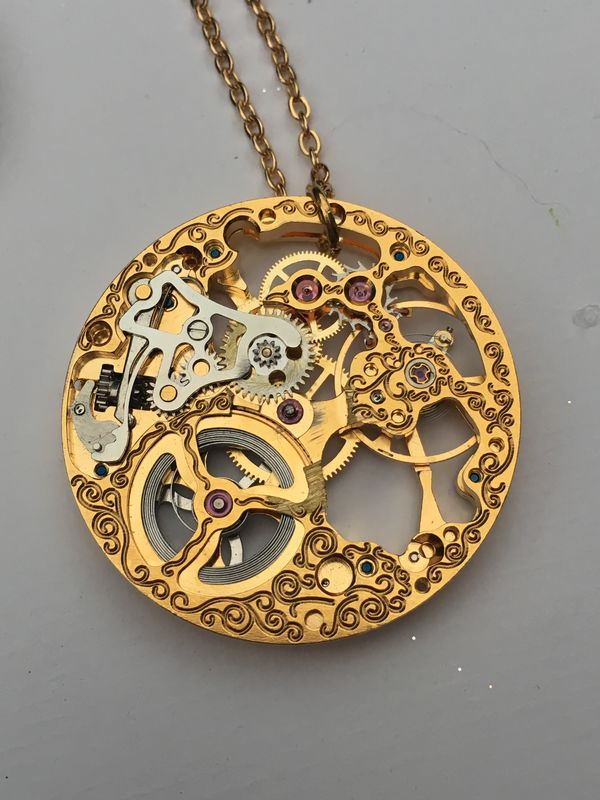 One of A Kind Vintage Large Rotary Watch Movement Necklace - product image