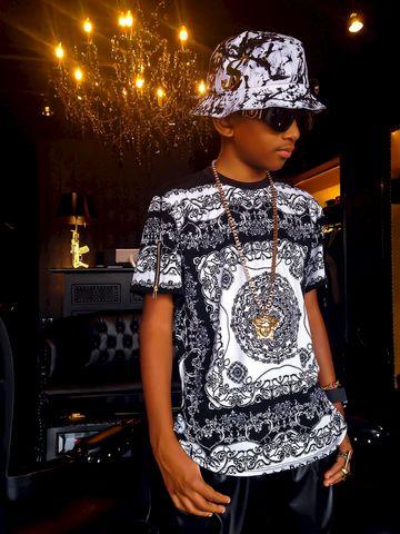 quot rich quot print shirt
