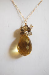 Lemon quartz and Skoky Quartz neclace - product images 2 of 4