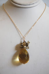 Lemon quartz and Skoky Quartz neclace - product images 4 of 4
