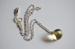 Gorgeous Lemon quartz pendant necklace with Sterling silver chain - product images 1 of 4