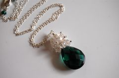 AAA Chrome green quartz and rock crystal necklace - product images 3 of 4
