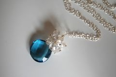 London blue  quartz and moonstone necklace - product images 1 of 4