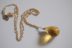 Golden Quartz necklace and gold filled chain - product images 2 of 4