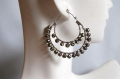 Gorgeous Mystic Pyrite  double hoop earrings - product images 1 of 4