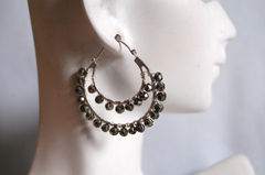 Gorgeous Mystic Pyrite  double hoop earrings - product images 3 of 4