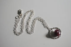 Ruby necklace with sterling silver chain - product images 3 of 4
