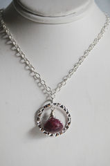 Ruby necklace with sterling silver chain - product images 4 of 4
