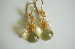 Gorgeous Lemon quartz onion briolette earrings - product images 2 of 4