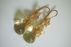 Gorgeous Lemon quartz onion briolette earrings - product images 3 of 4