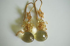 Gorgeous Lemon quartz onion briolette earrings - product images 4 of 4