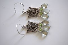 Green Amethyst and Peridot earrings - product images 2 of 4