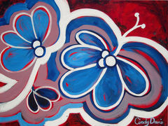 Butterfly,Blues,Art,Painting,Original_Painting,original,painting,whimsical,abstract,folk,happy,modern,butterfly,teens,folk_art,cindy_davis,blue,red,acrylic,canvas,paint