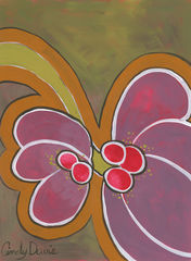 Grape,Wings,-,Original,Painting,Pop art, pop art flower,flower,painting,original,cindy davis,retro,distressed