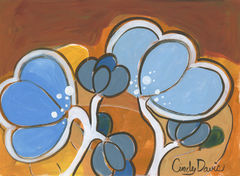 Blue,Bubble,Buds,Pop,Art,-,Original,Painting,Pop art, pop art flower,flower,painting,original,cindy davis, kids art, child art, whimsical kids art