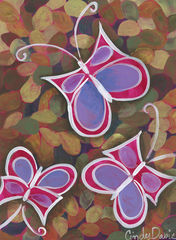 Butterfly,Lanterns,-,Original,Painting,Pop art, pop art flower,flower,painting,original,cindy davis, kids art, child art, whimsical kids art