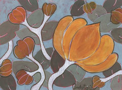 Butternut,Squash,-,Original,Painting,butternut,squash,art,artwork,botanical,autumn,decorative,painting,original,cindy davis