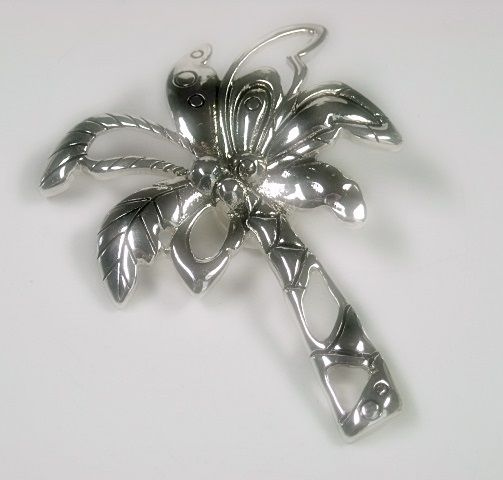 Palm Tree Magnetic Clip On Pendant, Beach Pendant, Summer, DIY Necklace - product images  of