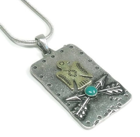Eagle,Necklace,,Hammered,Metal,and,Arrow,Pendant,Metalwork,,Mixed,Metal,,Turquoise,Stone,,Southwest,,Native,,Unisex,,Rustic,Jewelry,Necklace,Eagle_Necklace,Metal_Eagle_Pendant,mixed_metals,metalwork_pendant,arrow_pendant,arrow_jewelry,guy_man_him_unisex,eagle_and_arrow,animal_jewelry,southwest_pendant,symbolic,mens_jewelry,black_friday_cyber_m,pewter blank,eagle charm,arrow ch