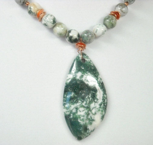 Agate Gemstone Necklace Agate Necklace Agate Statement Necklace