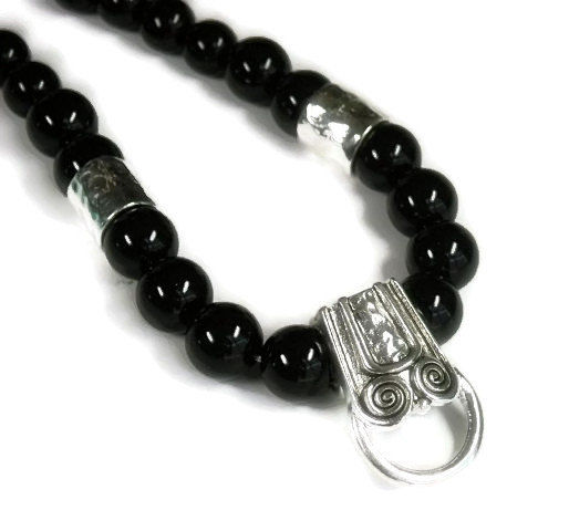 Black beaded pendant holder diy necklace for pendants black beaded pendant holder diy necklace for pendants interchangeable jewelry charm holder necklace aloadofball Gallery